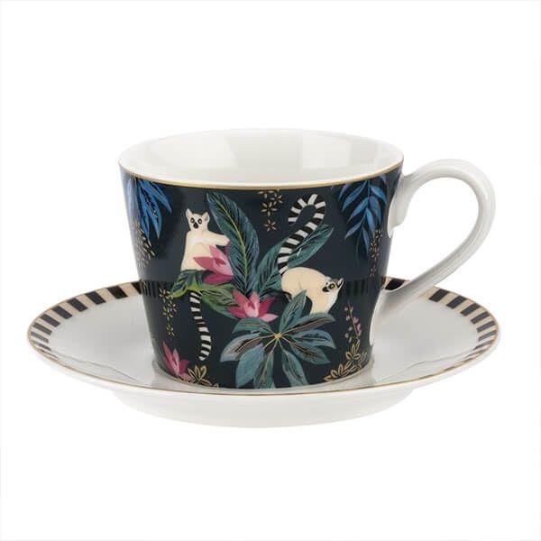 Sara Miller Tahiti Lemur Teacup & Saucer