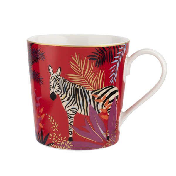 Sara Miller Tahiti Zebra Mug