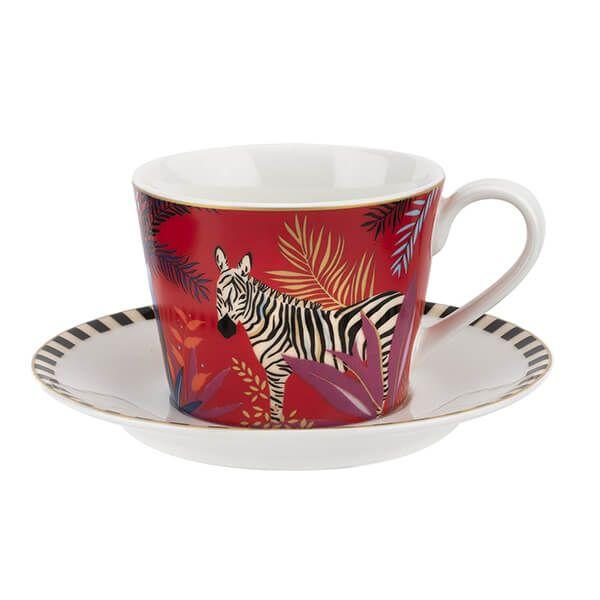 Sara Miller Tahiti Zebra Teacup & Saucer