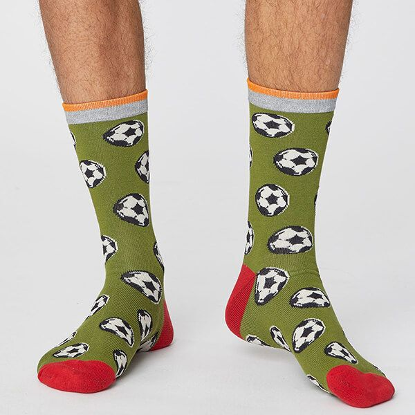 Thought Olive Green Sports Club Socks Size 7-11