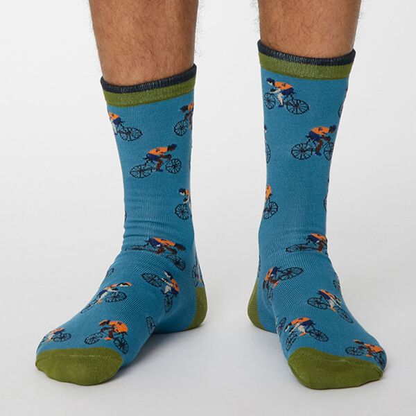 Thought Dusty Blue Garra De Bici Socks