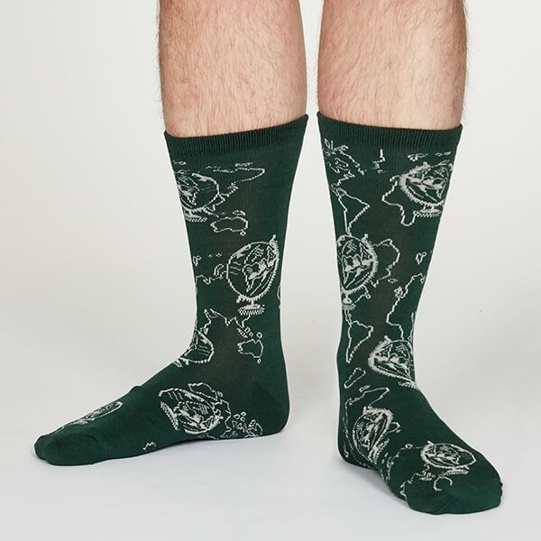 Thought Forest Green Thaddens Socks