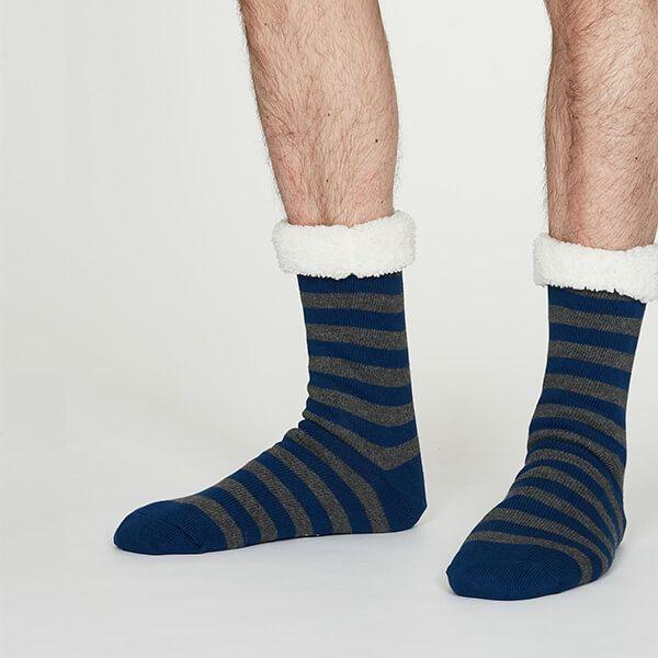 Thought Cobalt Blue Addison Cabin Socks