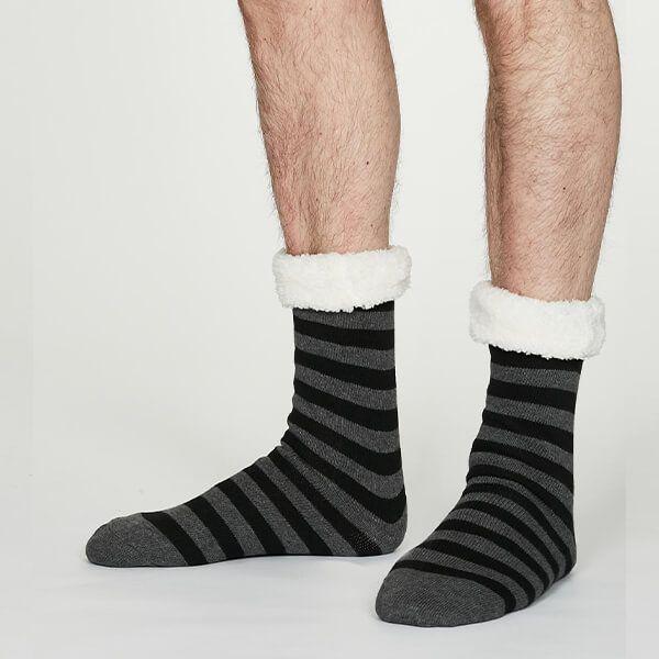 Thought Dark Grey Marle Addison Cabin Socks