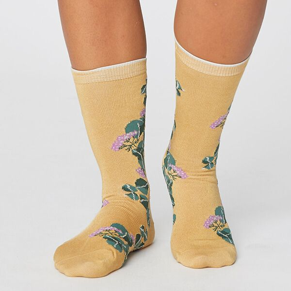 Thought Mimosa Yellow Florie Super Soft Daisy Socks Size 4-7