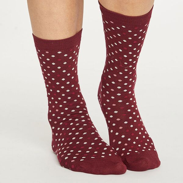 Thought Bilberry Spotty Socks Size 4-7