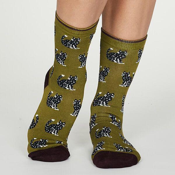 Thought Lichen Kitty Socks