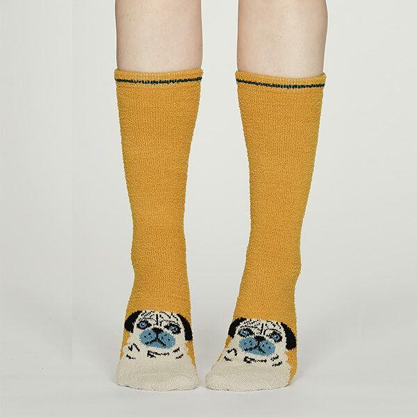 Thought Mustard Rebecca Fuzzy Socks