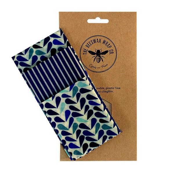 The Beeswax Wrap Co. Beeswax Wrap Dewdrop Print Medium Kitchen Pack Wrap