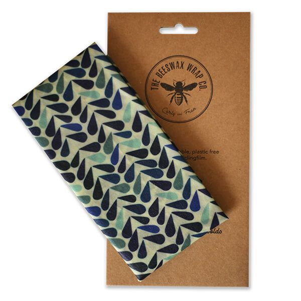 The Beeswax Wrap Co. Beeswax Dewdrop Print Bread Wrap