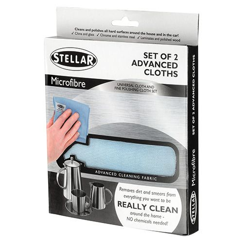 Stellar Microfibre Cleaning Cloth (2 pck)