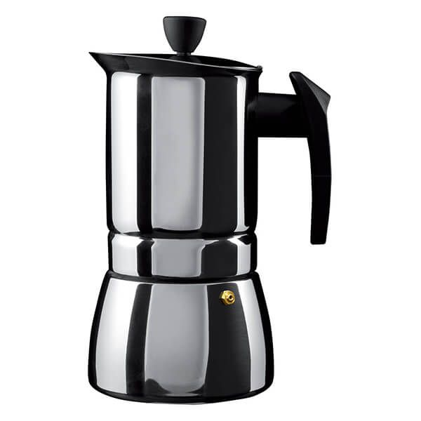 Grunwerg 6 Cup Cafe Ole Espresso Maker Induction Stainless Steel