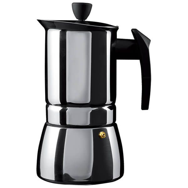 Grunwerg 9 Cup Cafe Ole Espresso Maker Induction Stainless Steel