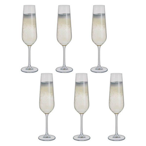 Dartington Select Set Of 6 Flute Glasses