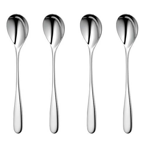 Robert Welch Stanton Bright Long Handled Spoon 4 Piece Set