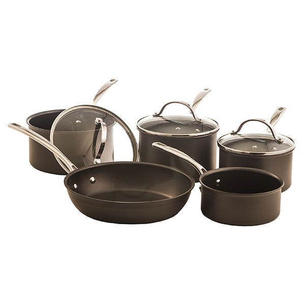 Stoven Hard Anodised 5 Piece Non-Stick Induction Cookware Set