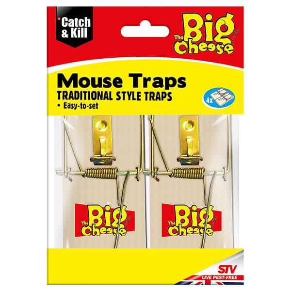 The Big Cheese Wooden Mouse Trap Pack Of 4