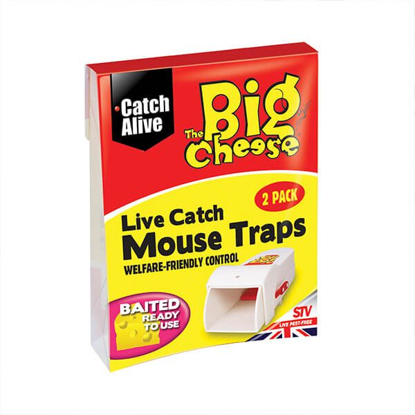 The Big Cheese Live Catch Mouse Traps Pack Of 2