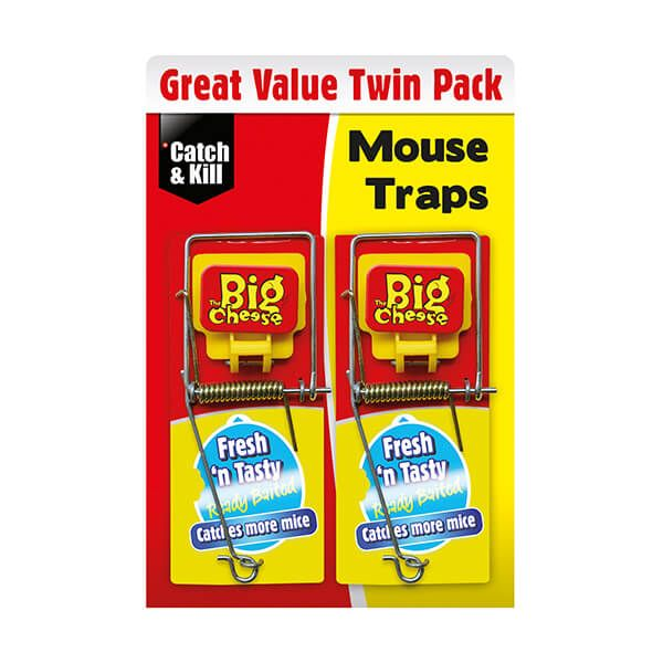 The Big Cheese Fresh Baited Mouse Trap Pack Of 2