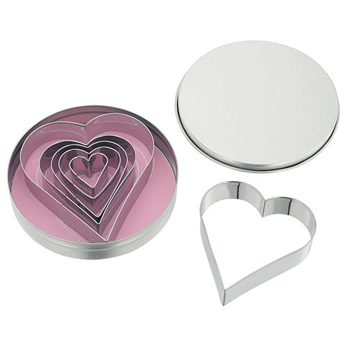 Judge Heart Shaped Cutters (Set Of Six)