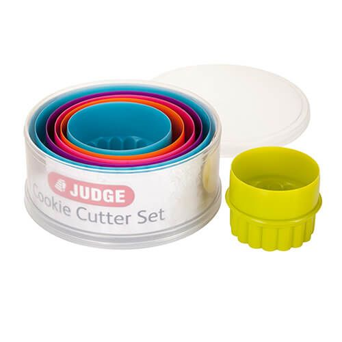 Judge Coloured Round Cutters (Set Of Six)