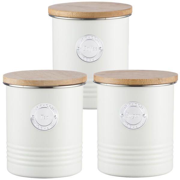 Typhoon Living 3 Piece Storage Set Tea, Coffee & Sugar Cream