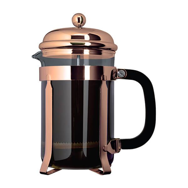 Grunwerg 3 Cup Cafe Ole Cafetiere Classic Copper Finish