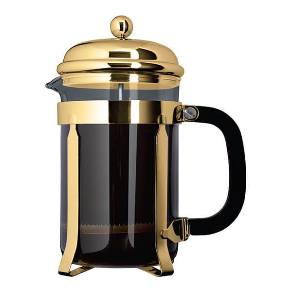 Grunwerg 6 Cup Cafe Ole Cafetiere Classic Gold Finish
