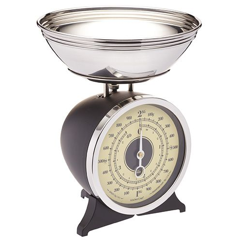 KitchenCraft Black Enamelled Mechanical Kitchen Scale