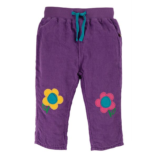 Frugi Organic Thistle Little Cord Patch Trousers Size 12-18 Months