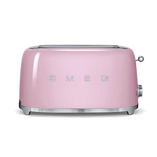 Smeg 4 Slice Toaster, Pink