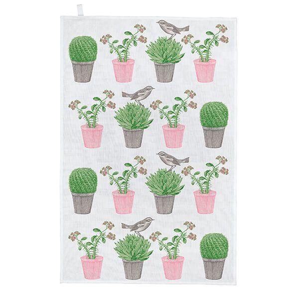 Thornback & Peel Cactus & Bird Tea Towel