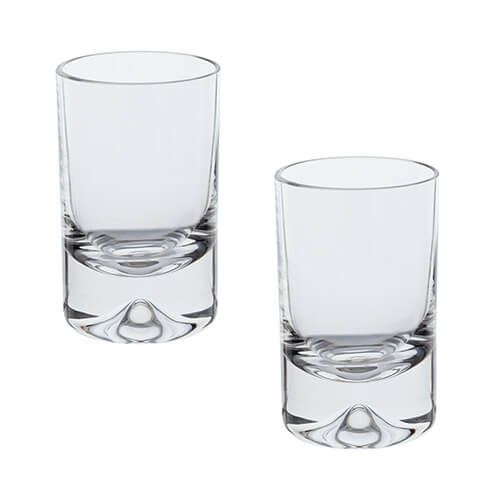 Dartington Dimple Lead Crystal Set Of 2 Shot Glasses