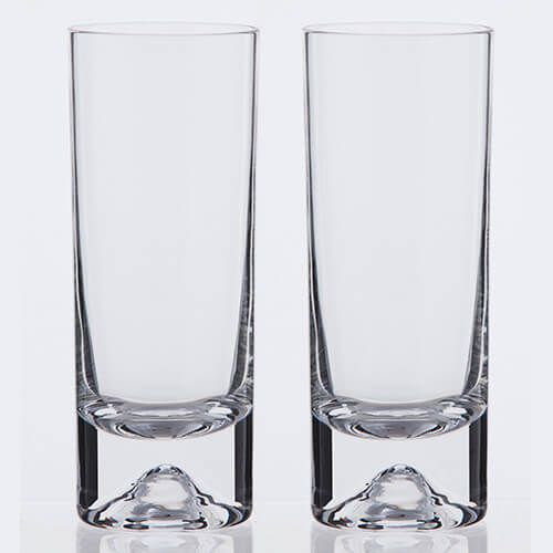 Dartington Dimple Lead Crystal Set Of 2 Highballs
