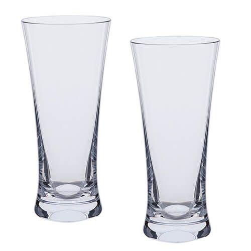 Dartington Bar Excellence Lead Crystal Set Of 2 Beer Glasses