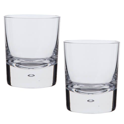 Dartington Exmoor Lead Crystal Set Of 2 Double Old Fashioned Tumblers