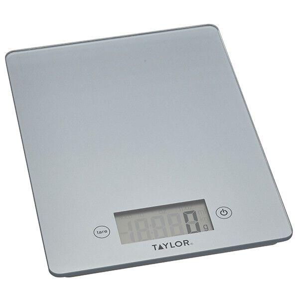 Taylor Pro Pewter Glass 5kg Digital Kitchen Scale