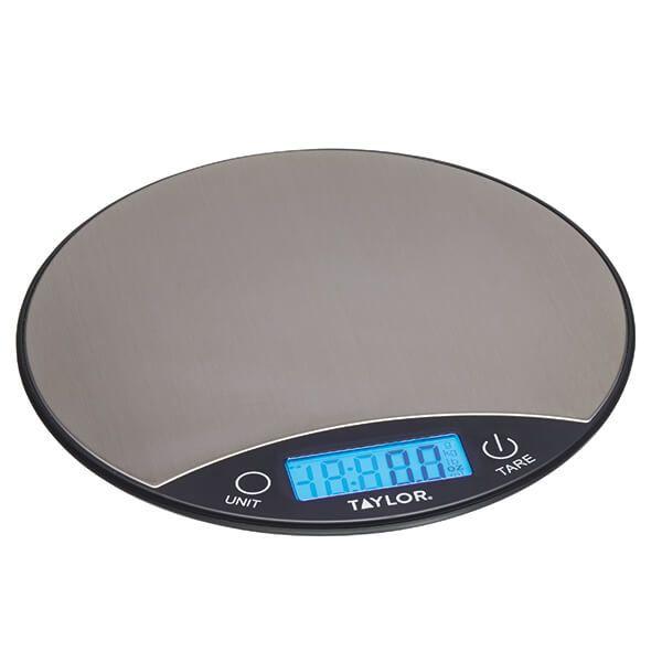 Taylor Pro Black & Silver 5kg Digital Dual Kitchen Scale