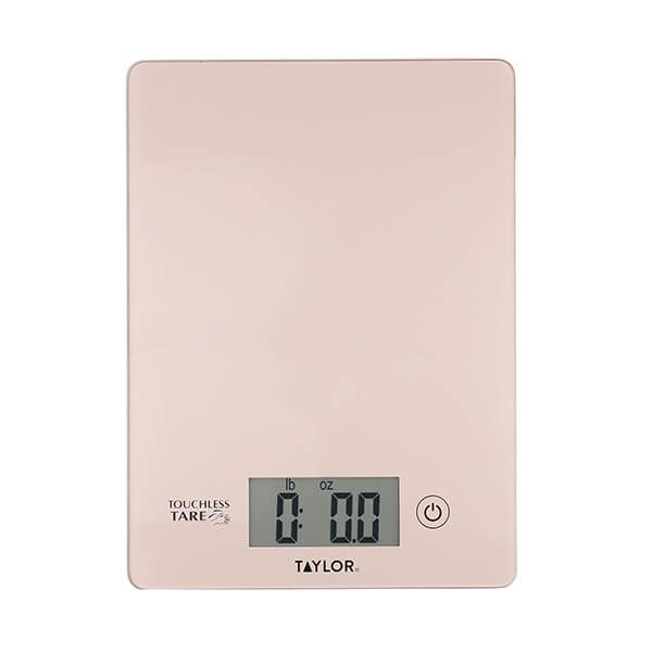 Taylor Pro Touchless TARE Rose Gold Digital Dual Kitchen Scales 5Kg (11lbs / 5 litres)