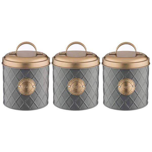 Typhoon Copper Lid Coffee, Sugar & Tea Storage Set