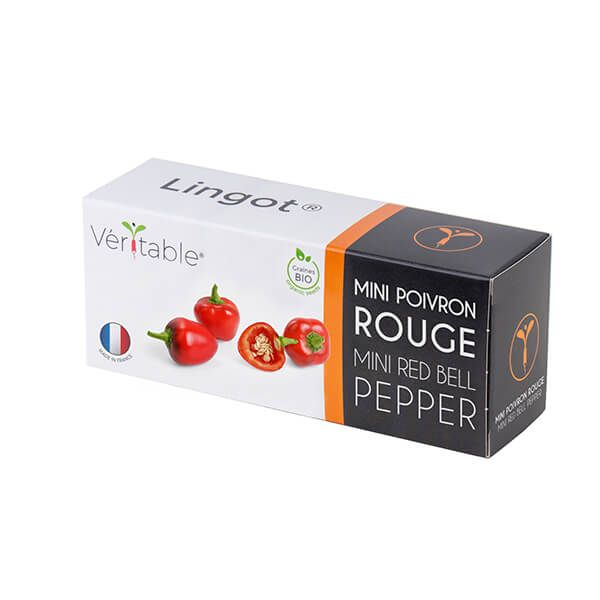 Veritable Organic Red Mini Bell Pepper Lingot