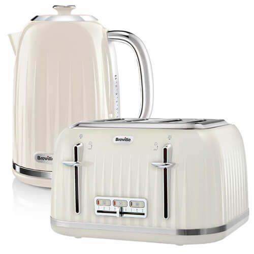 Breville Impressions Kettle & Toaster Set Cream