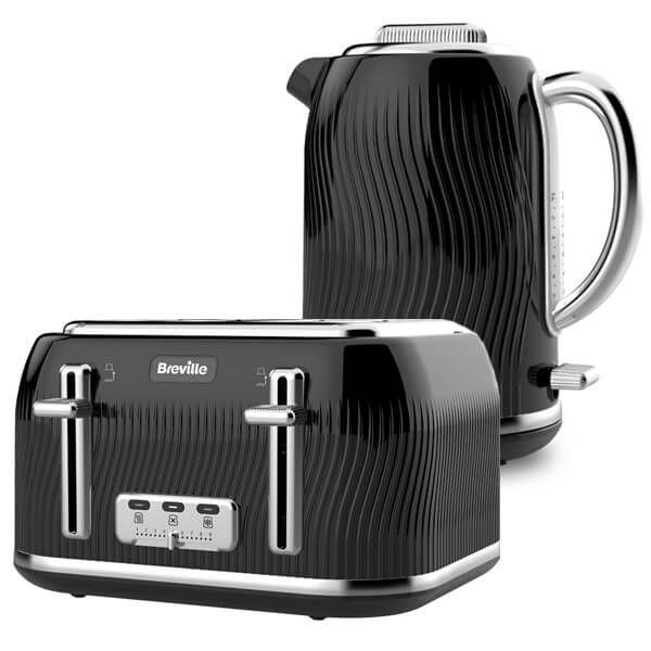 Breville Flow Kettle & Toaster Set Black
