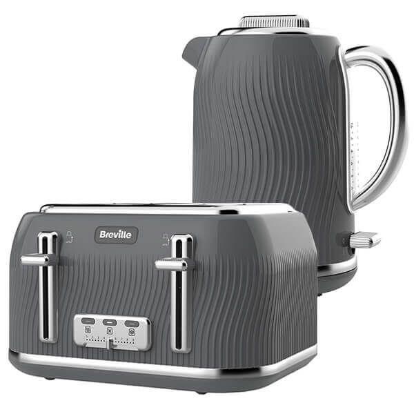 Breville Flow Kettle & Toaster Set Grey