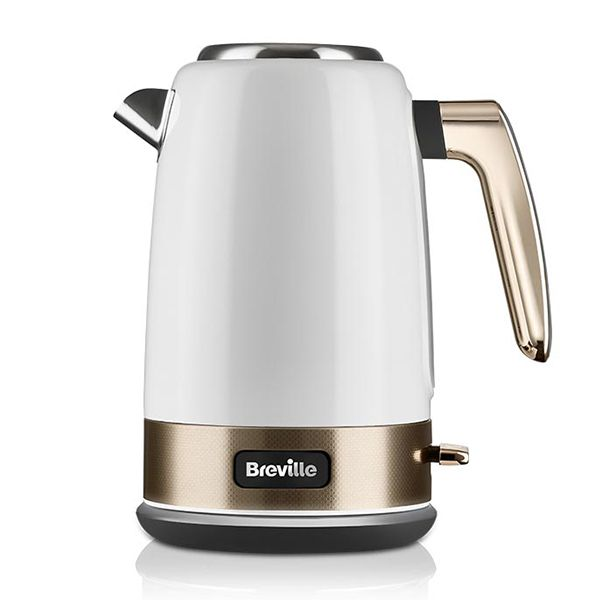 Breville New York Collection White And Gold Kettle