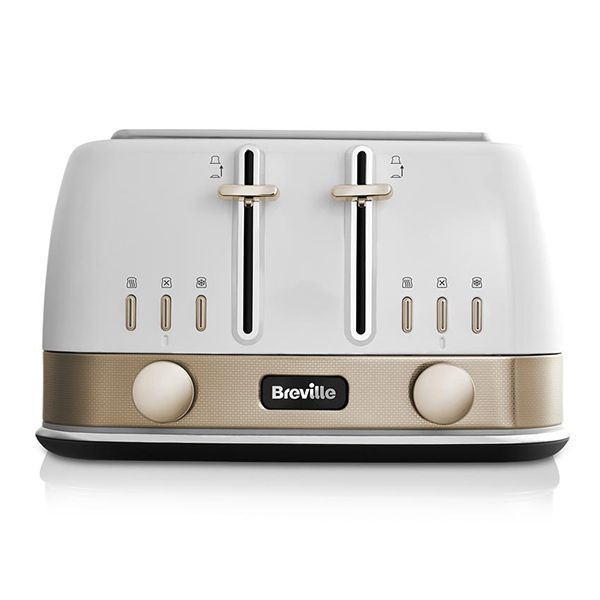 Breville New York Collection White & Gold Toaster