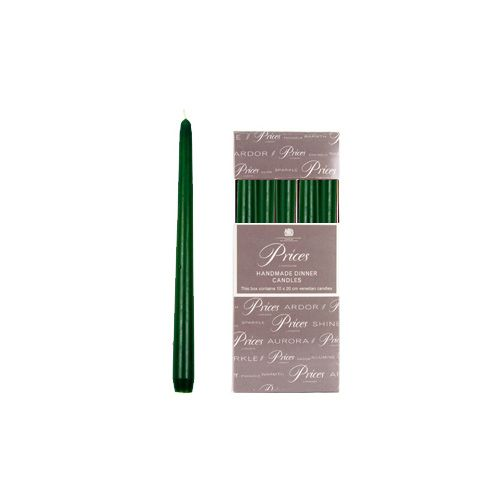 Prices Venetian 10 inch Dinner Candle Pack Of 10 Evergreen