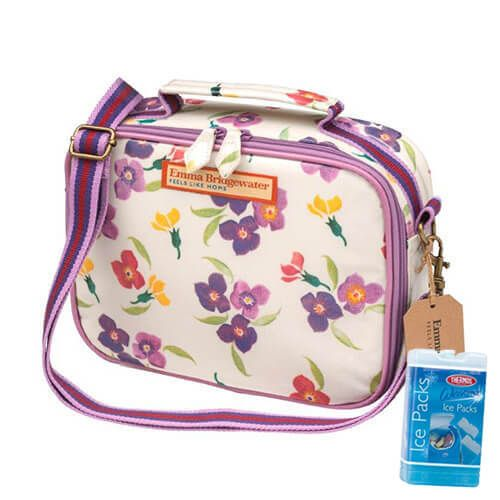 Emma Bridgewater Wallflower PVC Lunch Bag FREE Thermos Set Of Two Ice Packs 200g