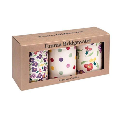 Emma Bridgewater Wallflower Set of 3 Tin Caddies