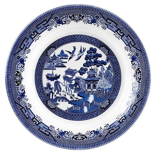 Churchill China Blue Willow 28.5cm Medium Pasta Dish
